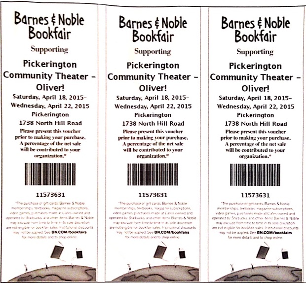 Barnes and Noble voucher April 2015